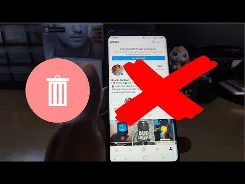 how to delete your instragram