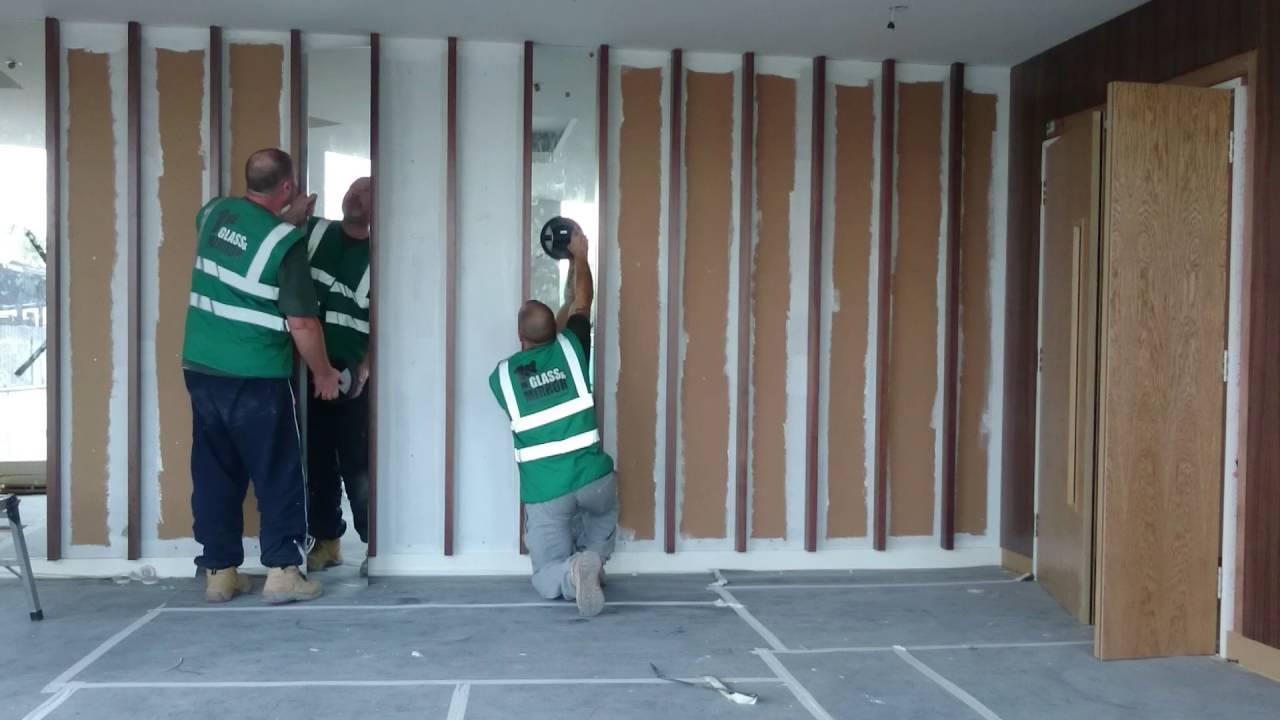 How To Install Mirror Panels Into Recesses On A Wall Youtube