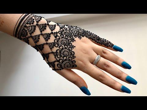 Latest Beautiful Arabic Jewellery Henna Mehndi Design For Hands    Girly Easy Mehndi    Eid 2019