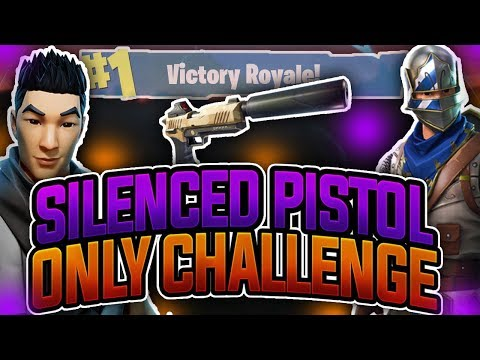 FORTNITE BATTLE ROYALE | SILENCED PISTOL ONLY CHALLENGE!!! ~ IS THIS GUN TO OP?!!