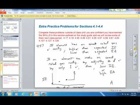 Problem 4.57 trends in first, second, third, and fourth ionization energies