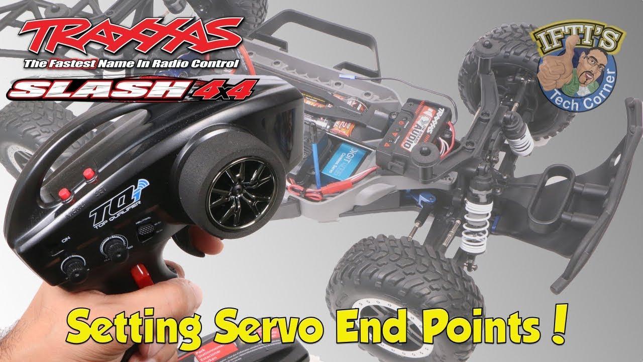 #09 Traxxas Slash 4X4 - Steering Upgrade Part 3/4 - Setting Servo End  Points!