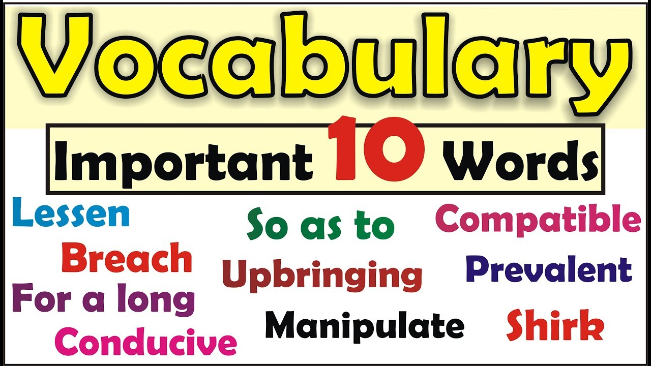 Vocabulary Exercise | Learn English Words with meaning