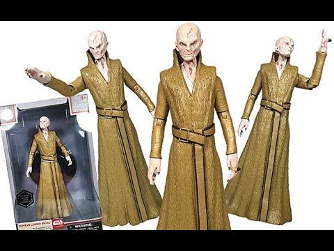 Star Wars Last Jedi Elite Series Supreme Leader Snoke Cast Disney Exclusive Figure Review