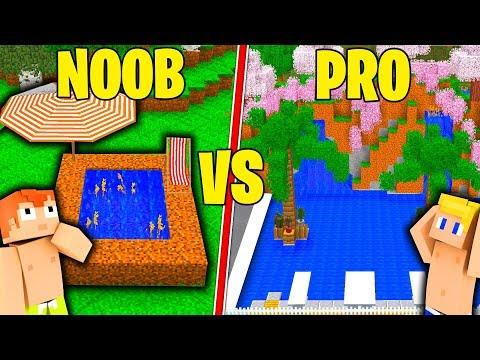 PISCINA NOOB CONTRO PISCINA PRO! - Minecraft ITA