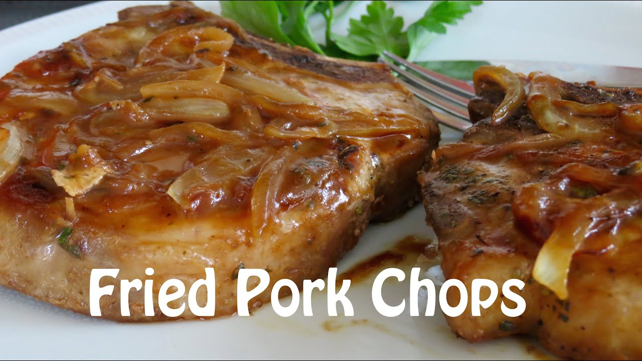 Fried Pork Chops With Plum Marmalade The Frugal Chef