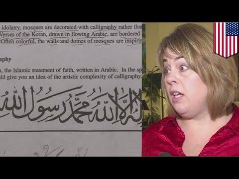 สั่งงดสอน เพราะครูให้การบ้านหัดเขียนตัวอักษรภาษาอาหรับ
