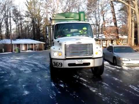 Waste Management Pro Driver On Georgia Black Ice