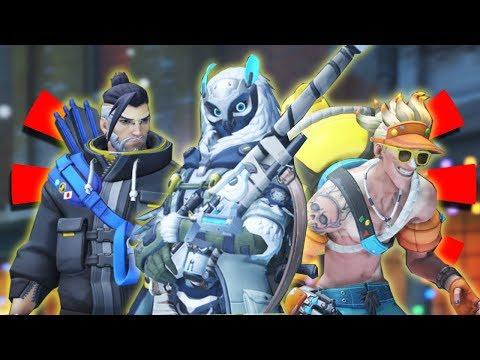 Overwatch - ALL 7 LEGENDARY SKINS WINTER WONDERLAND 2017