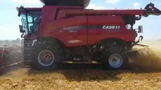 moissonneuse batteuse case ih axial flow 7140 terrinov demonstration
