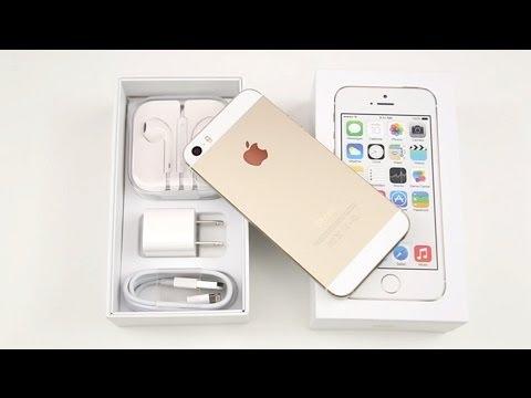 Déballage et présentation de l'Apple iPhone 5s GOLD ...Iphone 5s Champagne Gold Unboxing