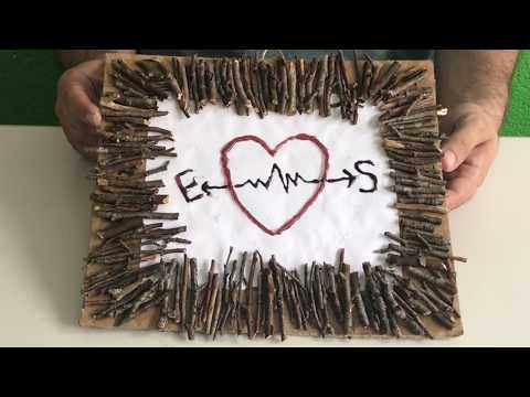 DIY Decorating Ideas - Make a Frame from Tree Branches for Valentine