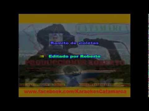 La Mona Jimenez   Ramito de violetas ( karaoke ) (PRODUCCIONES ROBERTO)