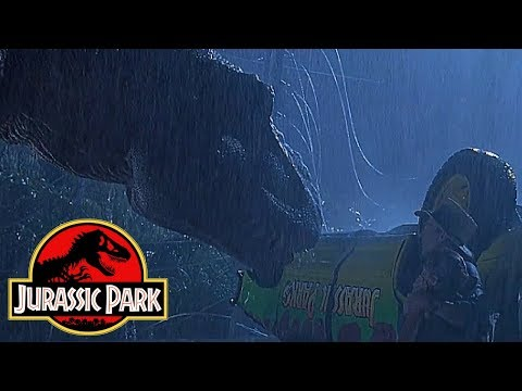 Why The Tyrannosaurus Could Not See Alan Grant in Jurassic Park - Jurassic World Tyrannosaurus