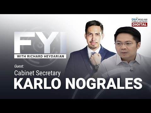 LIVE: FYI with Richard Heydarian: Exclusive interview with Cabinet Secretary Karlo Nograles