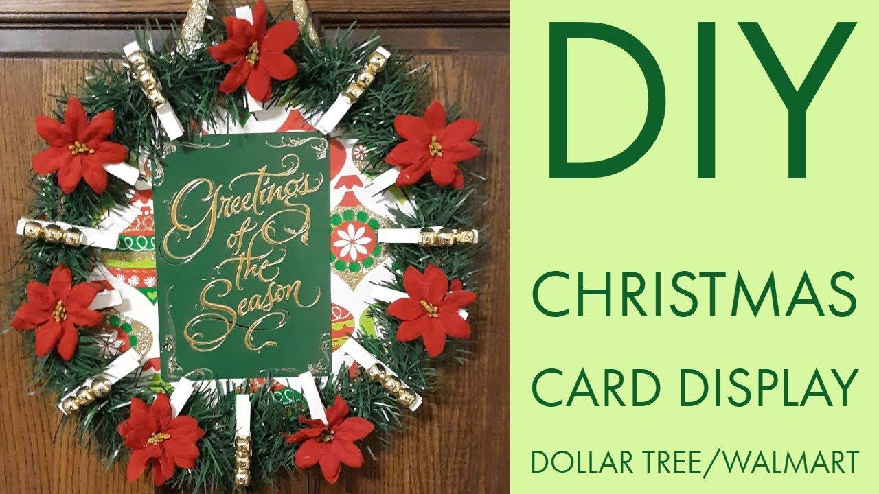 DIY Christmas Card Display|Dollar Tree|Walmart - YouTube