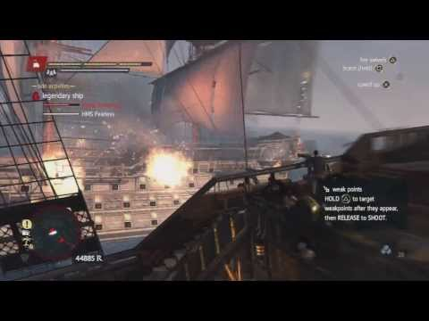Assassin's Creed 4 - Defeating Legendary Ships - HMS Fearless and Royal Sovereign