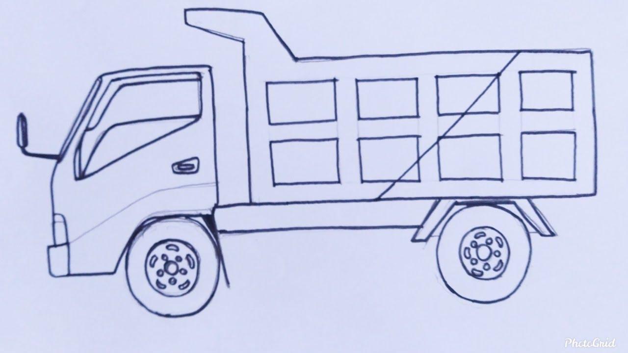 Cara Mudah Menggambar Mobil Truk Tutorial Indonesia Youtube