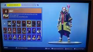 Sell a Fortnite account (from colleague) Rare skins and emotes value approx. 100euro / PVB
