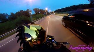 Поездка на Kawasaki Z750 глазами пассажира / Kawasaki Z750 passenger POV ride