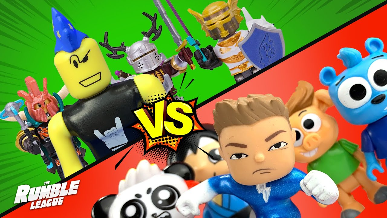 ROBLOX Rocks vs Little Flash and his Youtuber Friends! RUMBLE LEAGUE by KIDCITY