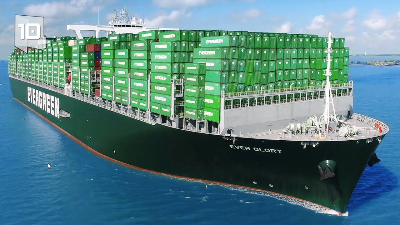 10 Maiores Navios Cargueiros do Mundo - Porta contêineres