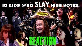 10 Kids Who SLAY High Notes | Vocal Coach Ken Tamplin Reacts
