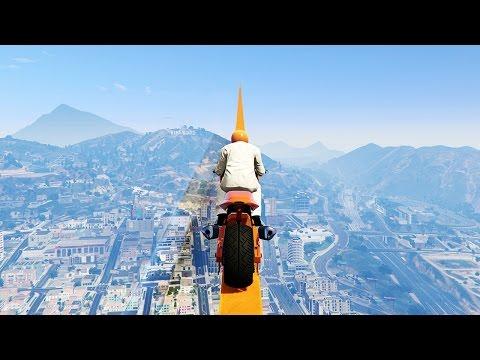 WORLD'S LONGEST TIGHTROPE RACE! (GTA 5 Funny Moments)