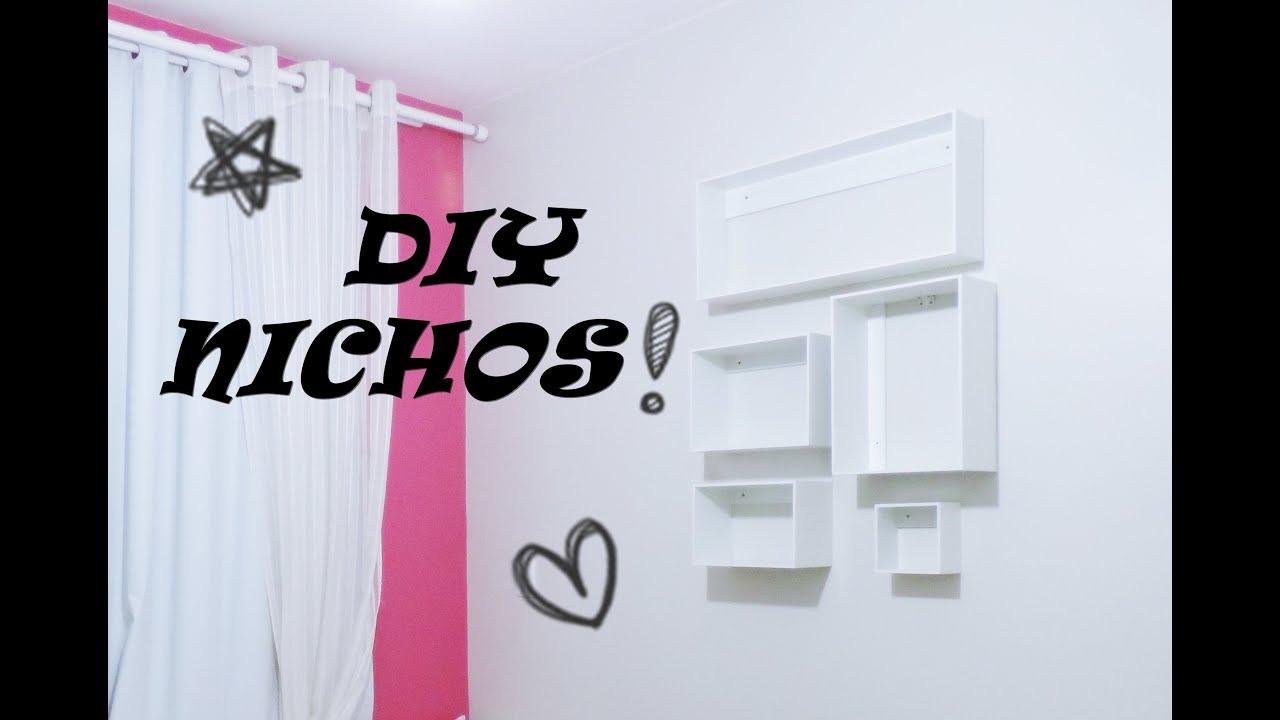 Como fazer e colocar nichos de parede youtube - Colocar fotos en pared ...