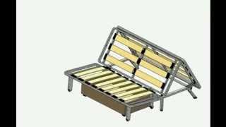 видео Как собрать диван аккордеон: схема работы