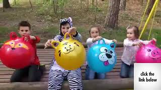 Kids play with ZEBRA Funny BALLS Kids Video Good Song for Kids JoyJoy Lika