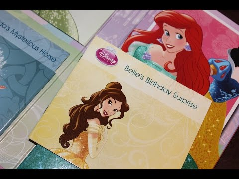 Disney Princess Enchanting Story ARIEL & BELLE!! Read along story time ベル (美女と野獣)