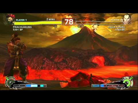 SSFIV ENDLESS BATTLE MATCH JR RODRIGUEZ ( AKUMA ) VS xQuicK StryEx ( DAN ) ON XBOX 360