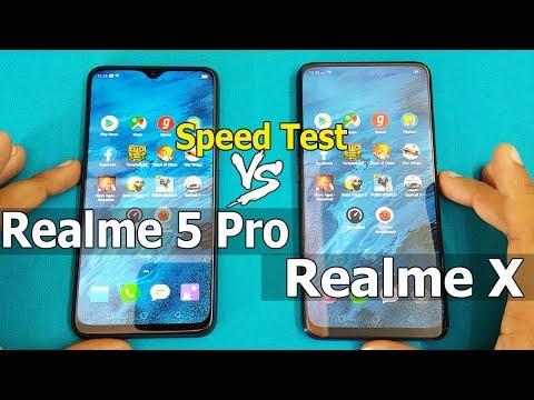 Realme 5 Pro vs Realme X Speed Test Comparition