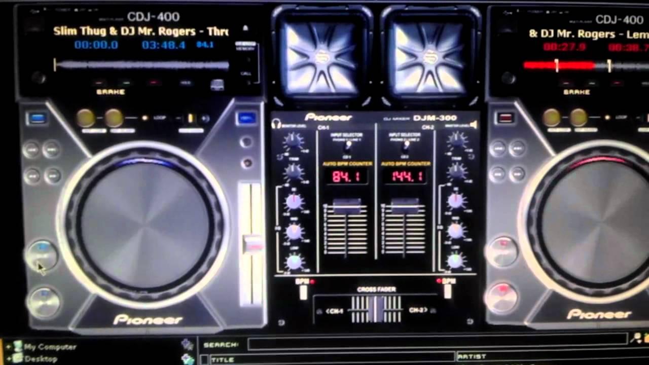 skin virtual dj pioneer cdj-400