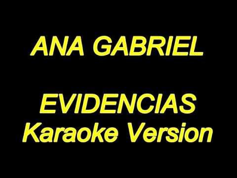 Ana Gabriel - Evidencias (Karaoke Lyrics) NUEVO!!