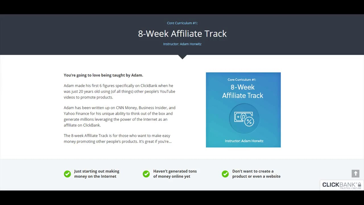 clickbank affiliate contract sell