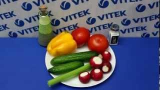 Рецепт приготовления овощного салата в блендере VITEK VT-3401 BK