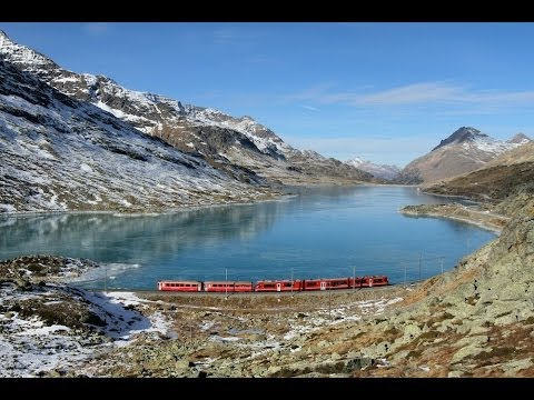 Bernina Express train world's most beautfiul railway through the alps - ReiseWorld