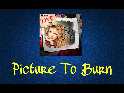 Taylor Swift - Picture To Burn (Live From SoHo)( Audio Official)