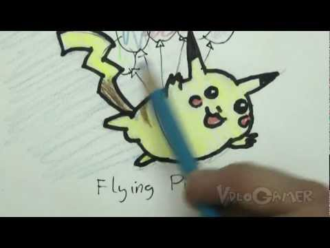 Draw a Flying Pikachu in 5 minutes!