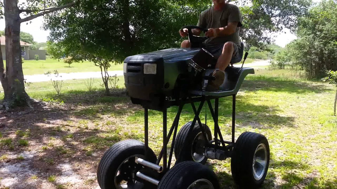 Lifted Lawnmower Youtube