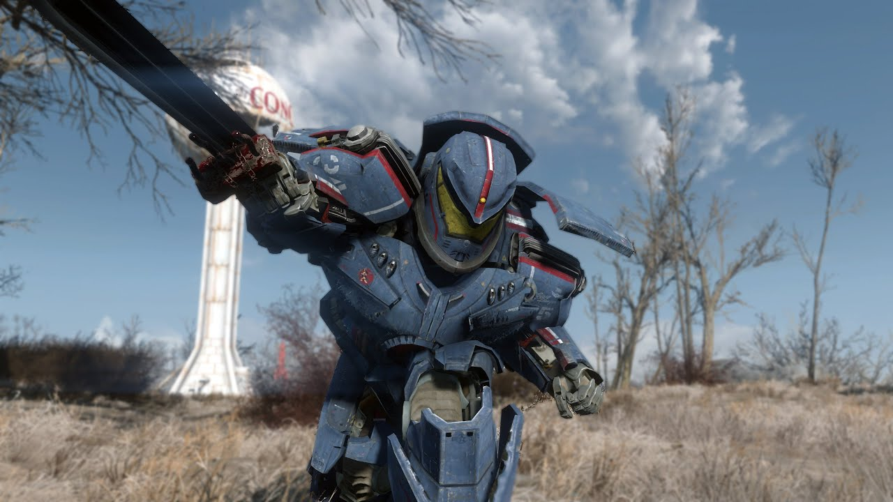 gipsy danger power armor fallout 4 mods pc xbox one youtube