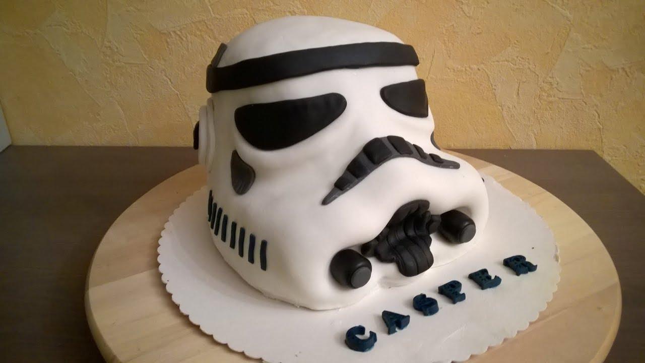 03 star wars sturmtruppler torte stormtrooper cake fondant deutsches tutorial buttercream. Black Bedroom Furniture Sets. Home Design Ideas