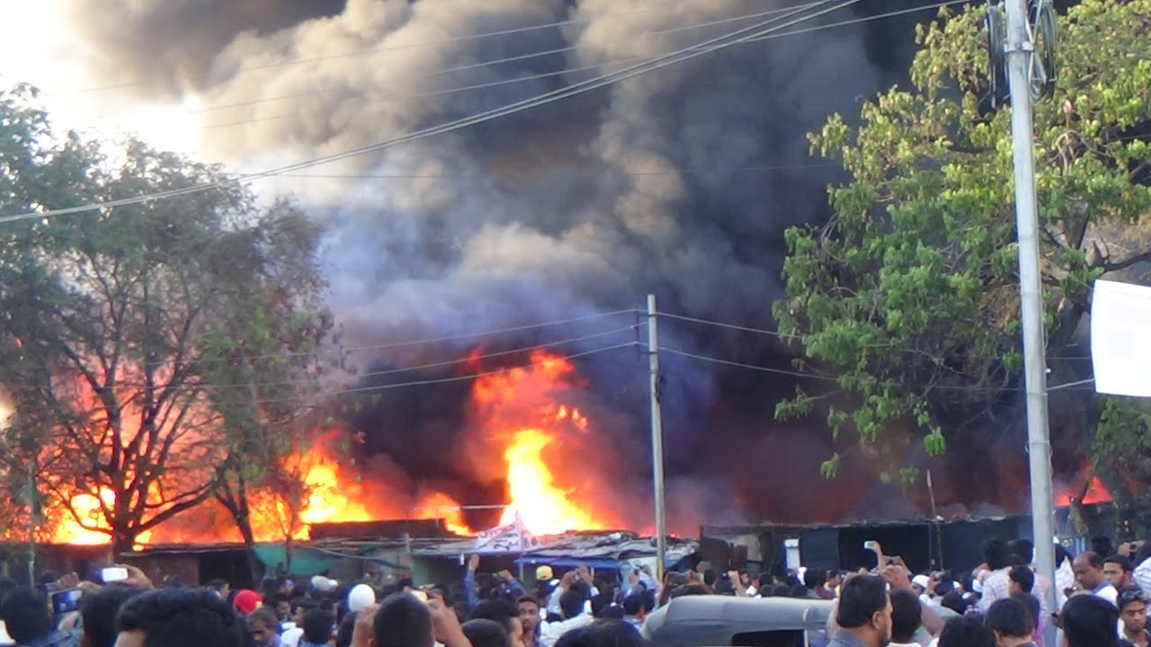 Major fire accident at...