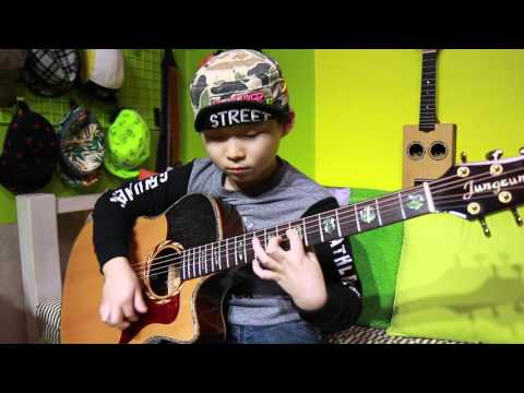 Fight ! - 押尾コータロー(Kotaro Oshio)(fingerstyle guitar cover by 8 year-old kid)
