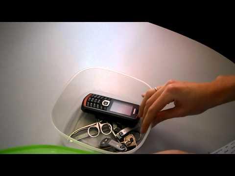Samsung B2710 Xcover. Испытание первое, колюще-режущее.