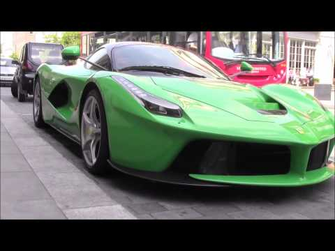Amazing GREEN Ferrari LaFerrari In London!