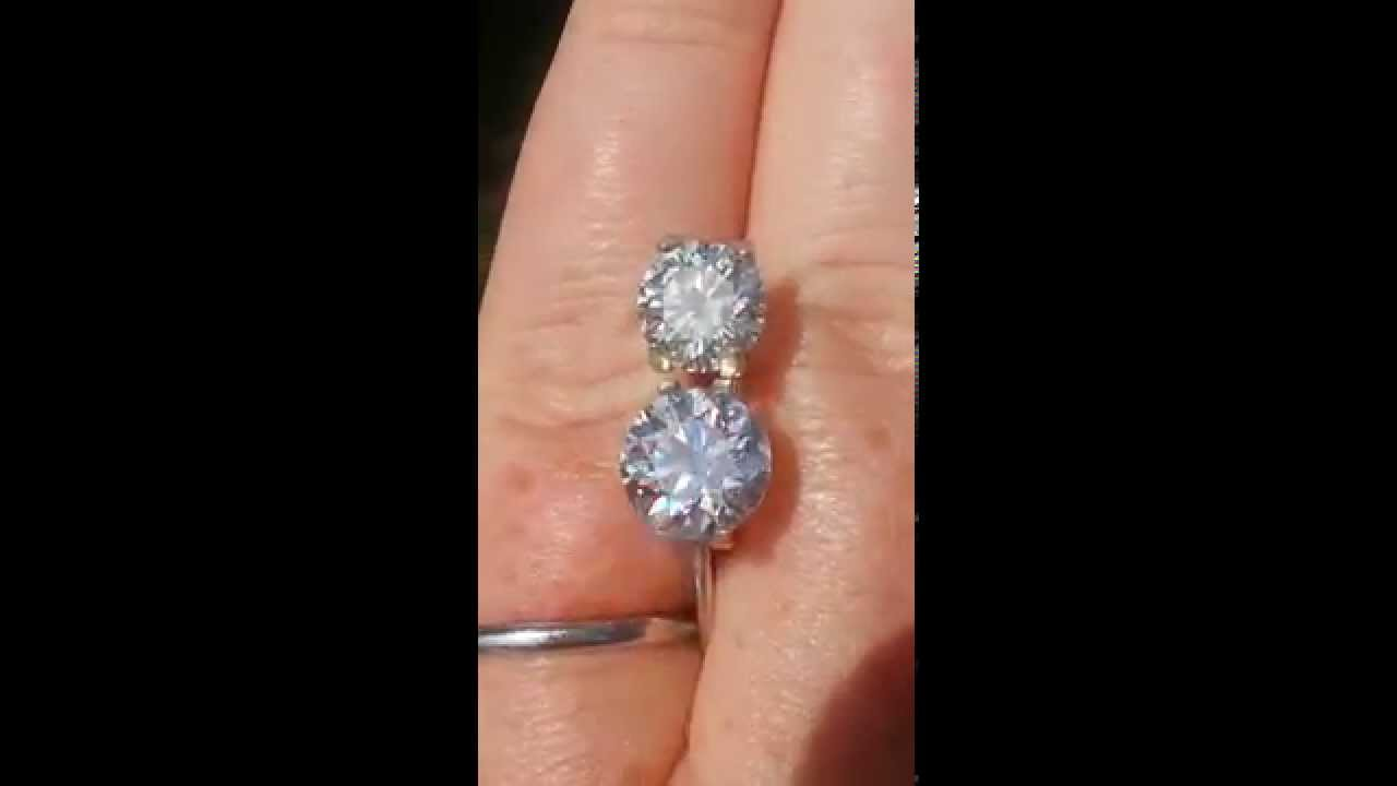 Amora gem, FB moissanite and ideal H&A diamond comparison video