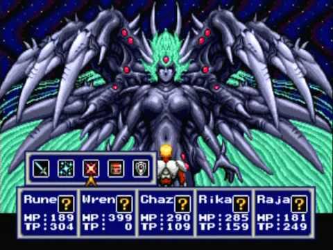 Phantasy Star IV Final Boss Fight and Ending